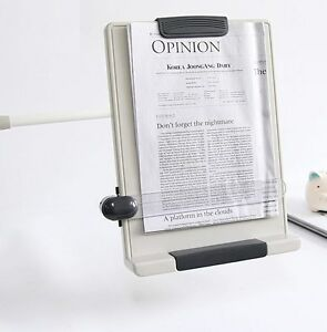 Desk Top Book Document Reading Stand Flex Arm Book Copy Holder Clamp Type Bch 07