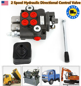 2 Spool Hydraulic Directional Control Valve 3600psi For Tractors Loader Usa