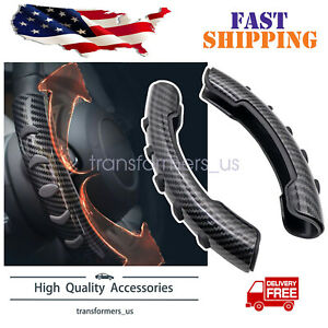 2x Carbon Fiber Non Slip Steering Wheel Booster Cover For Honda Civic Accord Crv