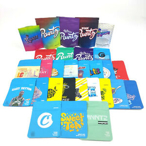 New Variety 3 5g Cookies Runtz Smell Proof Zip Seal Bags With Labels stickers