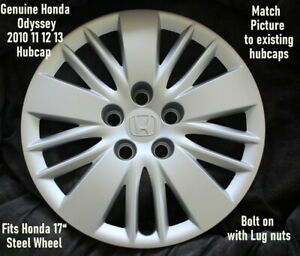 Genuine Honda Odyssey 10 11 12 13 Hubcap 17 Wheel Cover Bolt On
