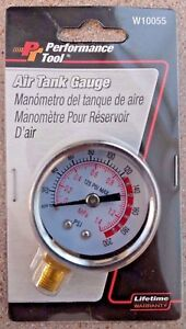 Performance Tool W10055 0 200psi Air Gauge For Portable Air Tanks