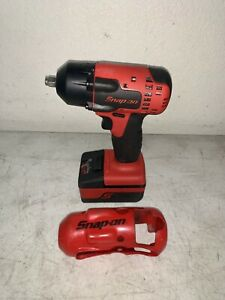 Snap On Ct8810a 3 8 Drive 18v Impact Wrench W Battery And Red Cover Tools