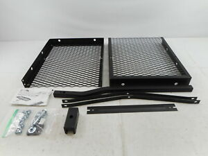 Curt 18110 48 X 20 Inch Tray Hitch Cargo Carrier 1 1 4 2 In Adapter Shank