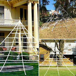 Halloween Big Giant Spider Web Decoration Haunted House Party Outdoor Yard Scary