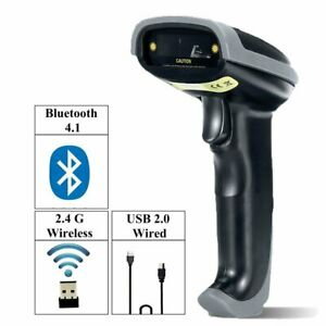 2 4g High Speed Wireless Laser Usb Barcode Scanner Scan Gun Upc Label Reader Pos