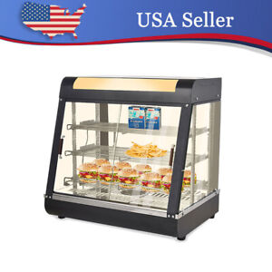 27 Commercial Food Warmer Court Heat Food Pizza Display Warm Cabinet Us Stock