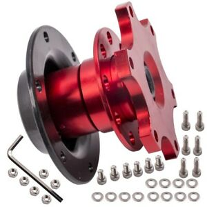Steering Wheel Quick Release Hub Auto Car Racing Adapter Snap Off Boss Kit Red
