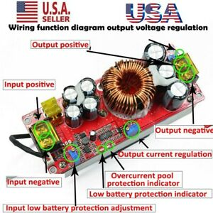Us 1800w 40a Dc dc Step up Boost Voltage Converter Constant Current Power Module