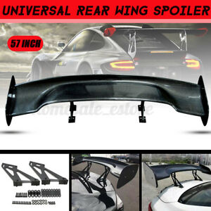 57inch Real Carbon Fiber Universal Car Racing Rear Trunk Spoiler Wing Adjustable