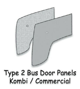Vw Type 2 Bus 1955 1967 Kombi Front Door Panels Grey Tar Impregnated Paperboard