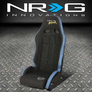 Nrg Innovations Df 100gy s Water Resistant Vinyl Fixed Back Bucket Racing Seat