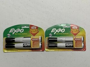 lot Of 2 2 Pack Expo Dry Erase Markers Low odor With Magnetic Side