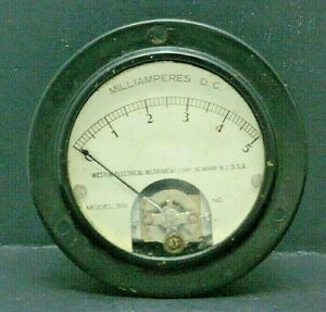 Weston Electrical Instrument Corp dc Milliamperes 1 5 Model 301