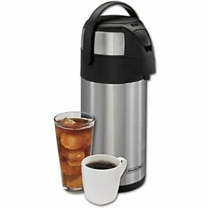 Proctor Silex Thermal Airpot Hot Coffee Cold Beverage Dispenser With Pump And 3