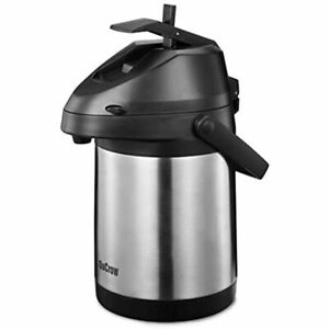 Qucrow Airpot Coffee Dispenser Stainless Steel Vacuum Insulater Thermal Airpot