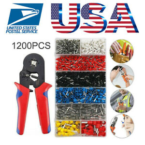 Crimp Tool Kit Ferrule Crimper Plier Wire Stripper 1200x Connector Wire Terminal
