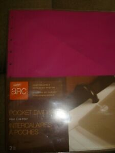 Staples Arc Customizable Notebook Dividers Lot Of 2