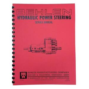 Rep2652 Behlen Power Steering Service Parts Manual Fits Allis Chalmers