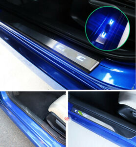 Led Moving Welcome Light Door Sill Scuff Plate Pedal 4x For Honda Civic 2016 20