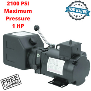 1 Hp Electric Hydraulic Pressure Pump For Log Splitters Tools Machines Power Up