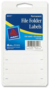 Avery Products File Folder Labels White 156 Labels