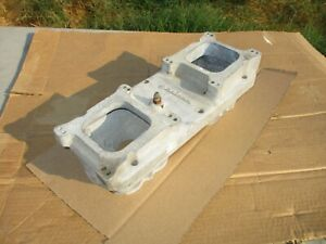 Weiand Say Why And Tunnel Ram Intake Manifold Top 2x4 Bbc Bbf 2 Piece