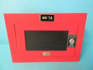Simplex Time Recorder Co 4244 24 Auxiliary Relay 555 747b 9907 Red Panel Case