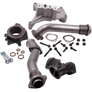 Turbo Pedestal Exhaust Housing Up Pipe Kit For Ford F Series 7 3l Trucks 00 03
