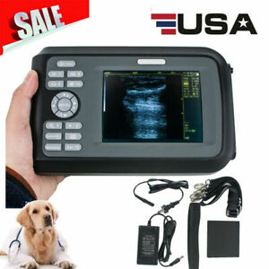 Digital Handheld Ultrasound Ultrasonic Scanner Unit Animal Rectal Transducer Vet