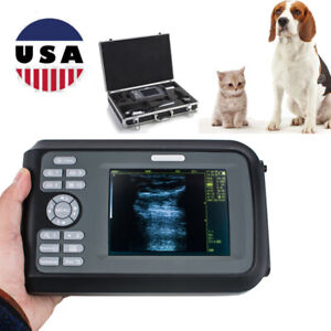 Digital Palmtop Ultrasound Scanner Ultrasonic Machine Animal Vet rectal Probe Ce