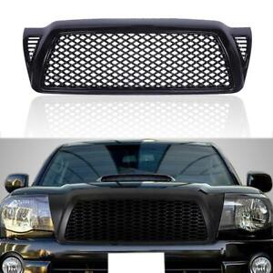 Front Bumper Mesh Hood Grille Grill Abs Black For Toyota Tacoma 2005 2011 2010