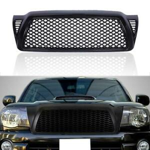 Front Bumper Mesh Hood Grille Grill Abs Black For Toyota Tacoma 2005 2011 2010 Fits 2007 Toyota Tacoma