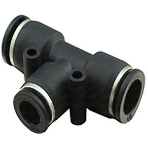 Utah Pneumatic 5 Pack Plastic Push To Connect Fittings Tube Tee Connect 1 2 Od