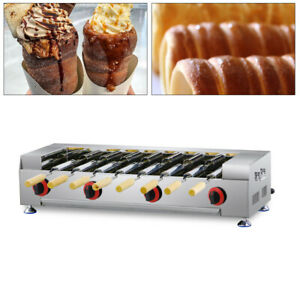 Commercial Lpg Gas Cake Oven Roll Grill Machine Stainless Bread Rolling Maker Us