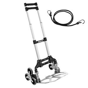 Winice Stair Climber Hand Truck Portable Folding Trolley Adjustable Handle Cart