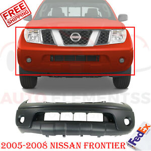 Front Bumper Cover Primed With Fog Light Holes For 2005 2008 Nissan Frontier Xe