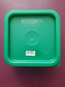 Case Of 6 Cambro Camsquares Food Storage Covers Green Sfc2452 Fits 2 4 Qt