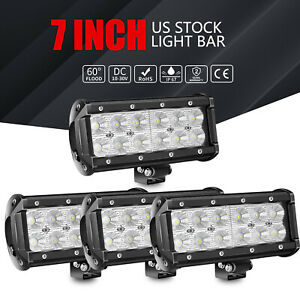 4 X7inch 144w Pods Led Work Light Flood Lamps For Truck Off Road Tractor 4wd 12v