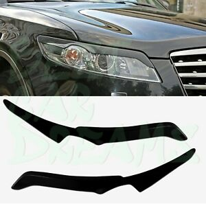 Headlight Eyebrows Covers Trim For Infiniti Fx 35 Fx 50 2003 2008
