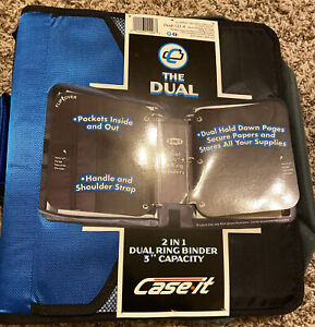 Case It The Dual 2 In 1 Dual 1 5 D ring Binder 3 Capacity Get Organized ref2