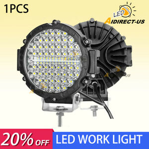 7 Inch Round Led Work Light Spot Beam Lamp Drl Driving Reserve Offroad 4x4