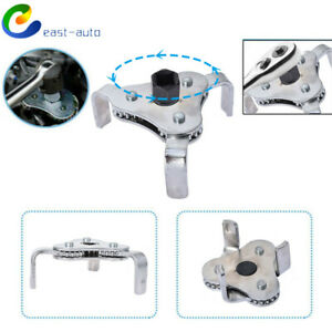 Oil Filter Wrench Removal Tool Universal 2 Way 3 Jaw Adjustable Socket 1 2 3 8