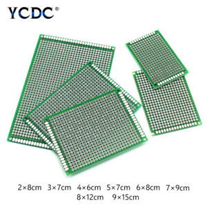Single double Sides Tinned Pcb Circuit Board Prototype Kit For Diy Soldering 5d
