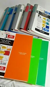Mead 5 Star Notebook Assorted Colors lot Of 8 School office Supplies paper