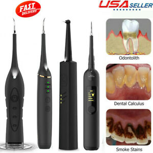 Electric Ultrasonic Dental Calculus Remover Tooth Cleaner Tool Rechargeable