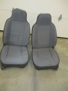 Rh Lh Front Cloth Bucket Seats Pair Agate Jeep Cherokee Xj 1997 2001