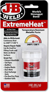 J b Weld 37901 Extremeheat High Temperature Resistant Metallic Paste 3 Oz