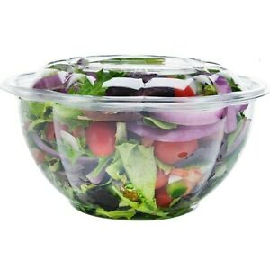 Dobi Salad To Go Containers 32 Oz 50 Pck Clear Plastic Disposable Food New