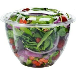 Dobi Salad To Go Containers 48 Oz 50 Pck Clear Plastic Disposable Food New
